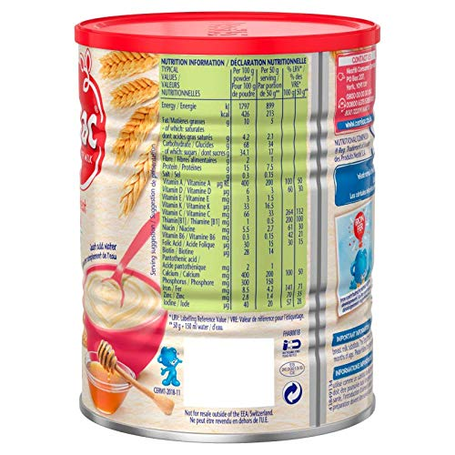 Nestle Cerelac, Honey and Wheat with Milk, 14.11 Ounce Can: Amazon.com: Grocery & Gourmet Food