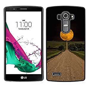 A-type Arte & diseño plástico duro Fundas Cover Cubre Hard Case Cover para LG G4 (Road Hope Black Night Field)