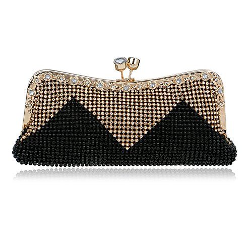 Diamonds Chain Bag Beaded Handbags Women Messenger Black Wedding Soft Bags Clutch Day Small TuTu Evening Shouler Crystal 7XwqSwz