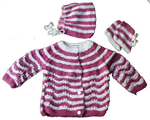 d2978c634 Little Bunnies Newborn Baby s Handknit Woollen Winter Clothing Set ...