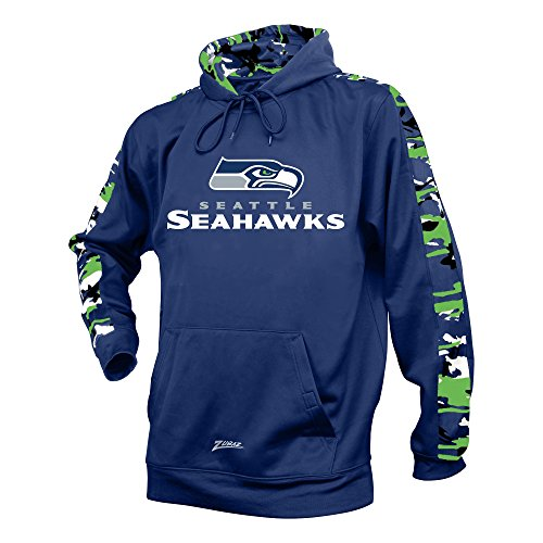 NFL Seattle Seahawks Men's Zubaz Camo Print Accent Team Logo Synthetic Hoodie, Large, - Logo Hoody Team