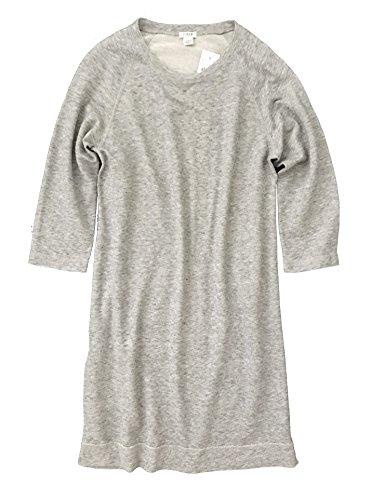 J Crew Women's - French Terry Sweatshirt Dress (Medium, Heather Gray)