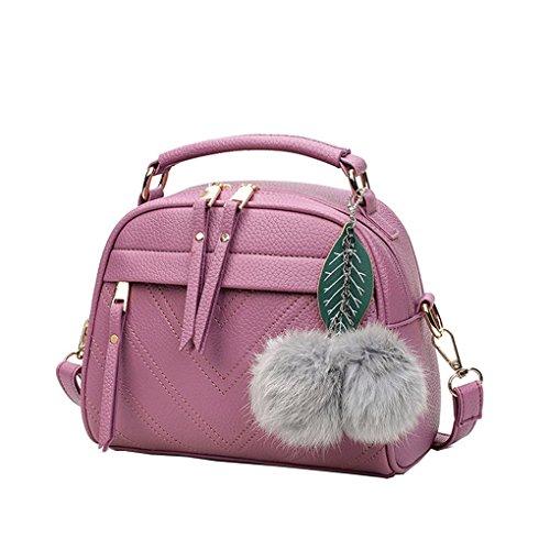 Sac d'épaule Femmes en peluche balle sac à main Mini sac à bandoulière Femme en cuir PU Sac à bandoulière FEMME fille Messenger Tote Mengonee Violet