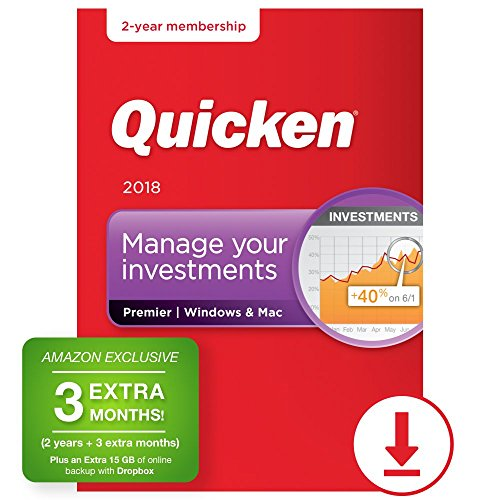 Software : Quicken Premier 2018 – 27-Month Personal Finance & Budgeting Software [PC/Mac Download] – Amazon Exclusive