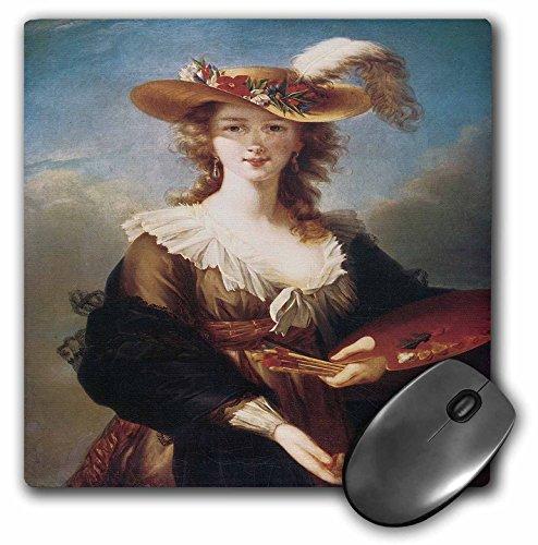 (3dRose BLN Portraits of Women Through Time Fine Art Collection - Self-Portrait by Marie Louise Elisabeth Vigee-Lebrun - MousePad (mp_149580_1))