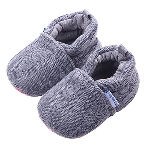 Beeliss Baby Loafers Winter Warm Knitted Cirb Shoes (6-12 Months, ()