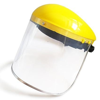AUVSTAR Máscara de Seguridad Transparente, Protección de los Ojos, Visera, Visera Transparente,