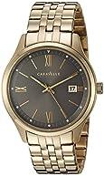 Bulova Men's Quartz Stainless Steel Casual Watch, Color:Gold-Toned (Model: 44B111)