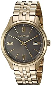 Bulova Men's Quartz Stainless Steel Casual Watch, Color:Gold-Toned (Model: 44B111)