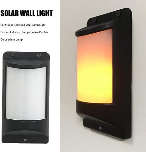 julyso Solar Wall Light LED Solar Lámpara de Pared Jardín Color Doble Lámpara cálida: Amazon.es: Electrónica
