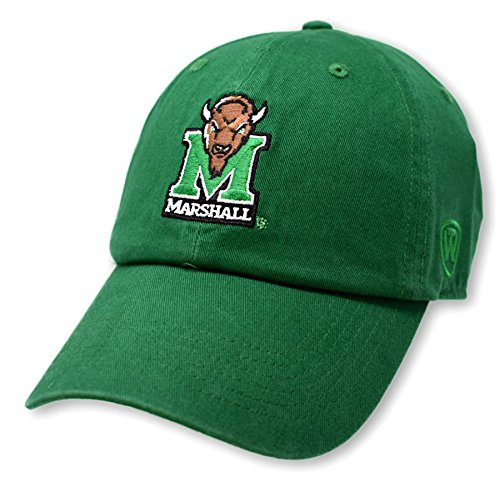 Top of the World NCAA Marshall Thundering Herd Men's Adjustable Relaxed Fit Team Icon Hat, Kelly Green
