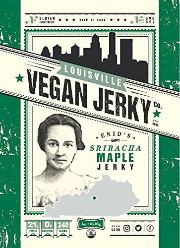 Louisville Vegan Jerky - Sriracha Maple, 3 oz. Bag