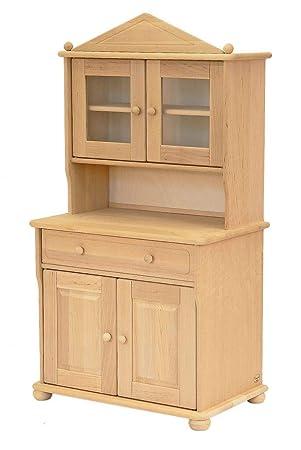 Gentil Drewart 2210 Großer Küchenschrank Für Kinder Erle Massiv Geölt   Kinderküche    Schrank   ökologisch