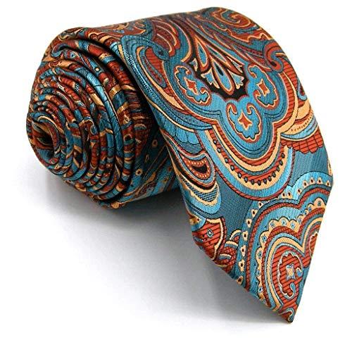 Shlax&Wing Geometric Multicolored Mens Ties Silk Necktie Wedding (Man Fashion Silk)