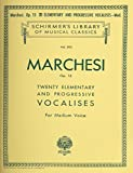20 Elementary and Progressive Vocalises, Op. 15: Schirmer Library of Classics Volume 593 Medium Voice