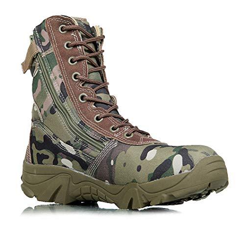 Tebapi Mens Backpacking Boots Men Military Boots Camouflage Tactical Combat Boots Men Kamuflaj Bot Army Shoes Men Climbing Shoes Botas Hombre Green 12