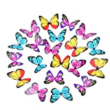 Shappy 100 Pieces Multicolor Pre-cut Butterflies Cupcake Toppers for Wedding, Baby Shower, Birthday Party Decorations