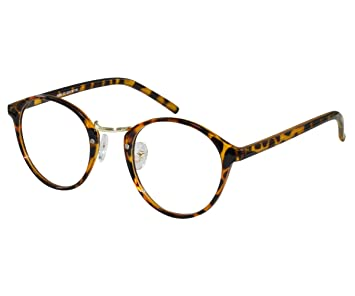 e1601f4832 Image Unavailable. Image not available for. Color  EyeBuyExpress Eye Glasses  Women Men Animal Print Funky Old School Round ...