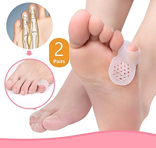 DUORUI 2 Pairs Ventile Little toe Guard with Hole(Tailor's Bunion) - Shield Spacers -Fast Pain Relief - Wear with Shoes-little toe sleeves, little toe separator, little toe bunion grard