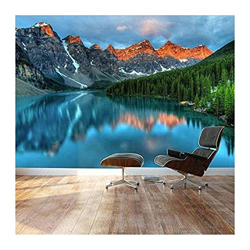 Wall Mural ( Tranquil Mountain Lake)