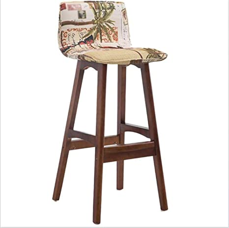 Phenomenal Amazon Com Msjiao Solid Wood Bar Chair High Chair Lounge Onthecornerstone Fun Painted Chair Ideas Images Onthecornerstoneorg