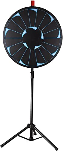 WinSpin 24 Editable Prize Wheel of Fortune 18 Slot Floor Stand Tripod Spinning Game Tradeshow Carnival