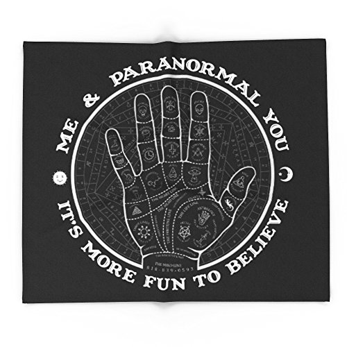 Society6 Me & Paranormal You - James Roper Design - Palmistry B&W (white Lettering) 68'' x 80'' Blanket by Society6