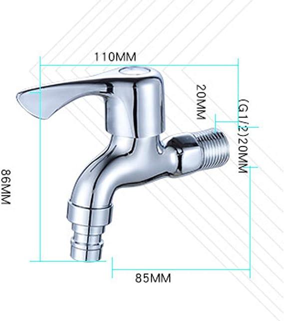 Accessoires de salle de bains Cuivre /à ouverture rapide Robinet de machine /à laver Robinet en c/éramique Vanne 4 points Extended Single Cold
