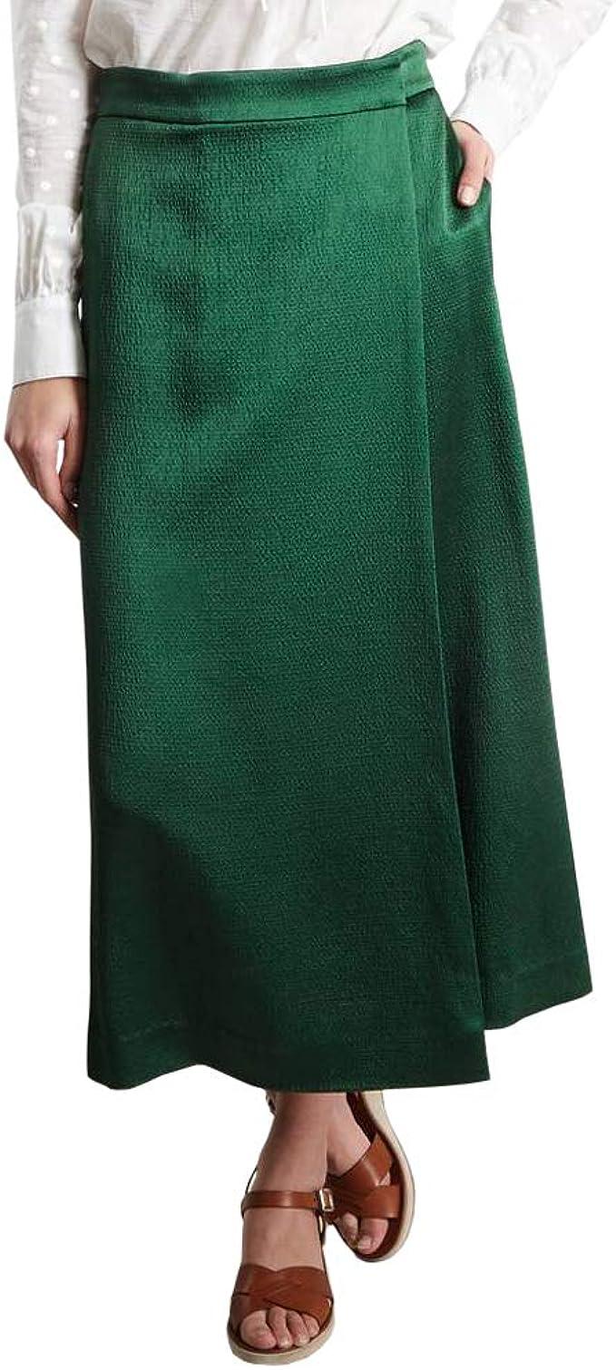 Theory Satin Culotte Falda de Verano para Mujer - Verde - 44 ...