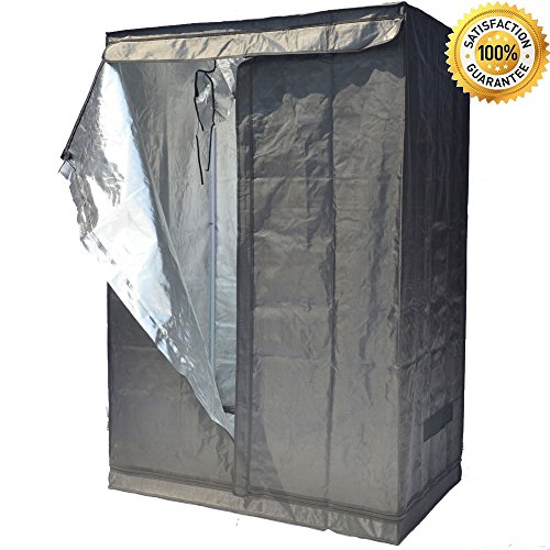 Grow Tent Indoor Not Include LED - Reflective Mylar Hydroponic/Hydro Waterproof Seedling Plant Growing Room for Grow Tents, Black 48''x32''x70'' by Smart