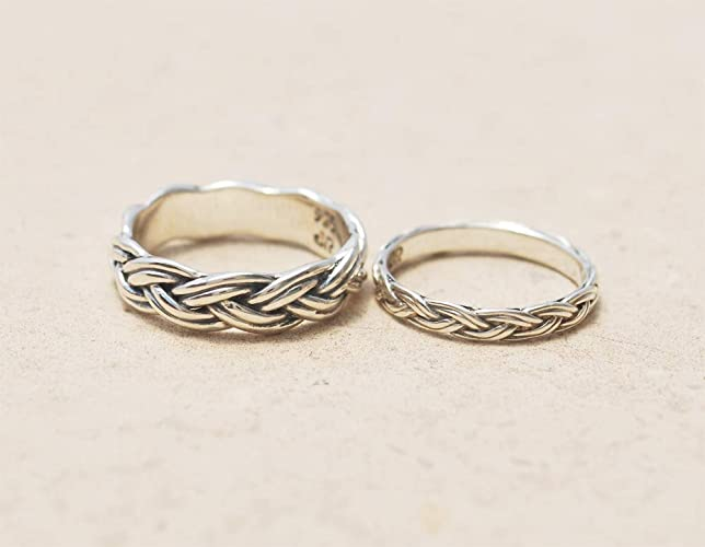 Amazon Com Handmade Unique 925 Sterling Silver Braided Meaningful