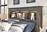 Signature Design by Ashley B211-85 Drystan Bookcase Headboard, Full, Brown
