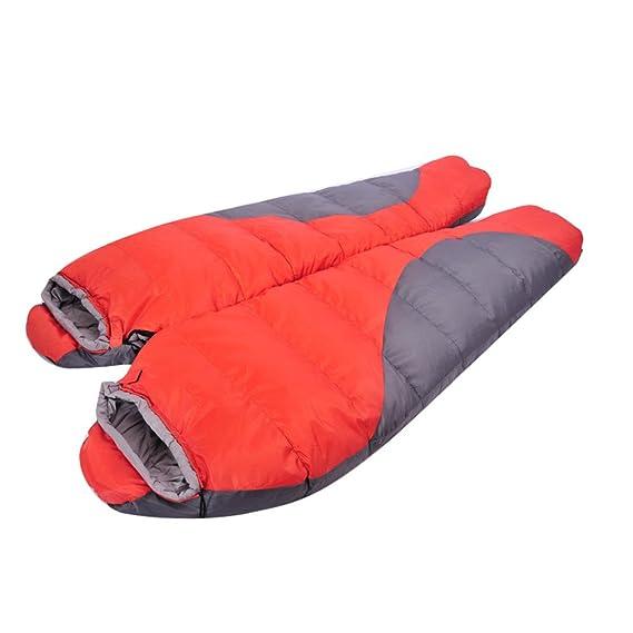 Kereith Camping Saco de Dormir Interior y al Aire Libre Adulto de Dormir de Invierno para Mochila Senderismo Viajes con Bolsa de compresión: Amazon.es: ...