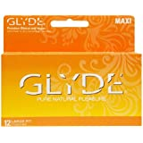 Premium Large Condoms - GLYDE MAXI 12 Count / Larger Condom with Extra Comfort, Sensitive & Strong - The #1 Natural Condom Brand