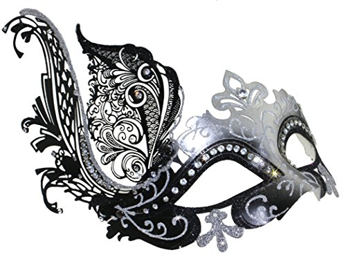 Coxeer Venetian Mask Halloween Mask Party Mask Vintage Masquerade Mask for Prom (Masquerade Halloween)