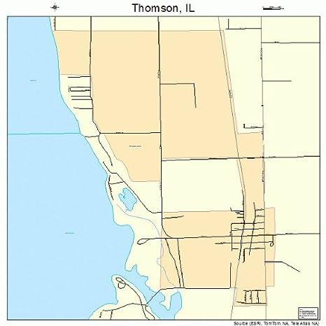 Thomson Illinois Map.Amazon Com Large Street Road Map Of Thomson Illinois Il