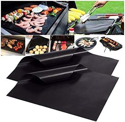 WW Tapis de Barbecue antiadhésif réutilisable de 33x40 cm, Coussin de Barbecue en PTFE épais de 0,08 mm