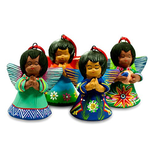 NOVICA Decorative Christmas Angels of The Forest'  Ceramic O