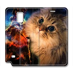 Cat In Space Animal Leather Cover for Samsung Galaxy Note 4 by Cases & Mousepads