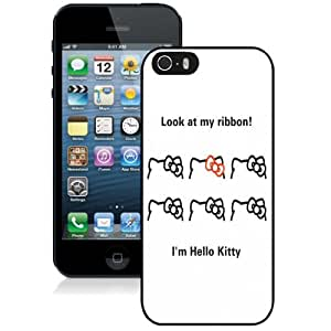 Beautiful Custom Designed Cover Case For iPhone 5s With Hello Kitty Ribbons Phone Case