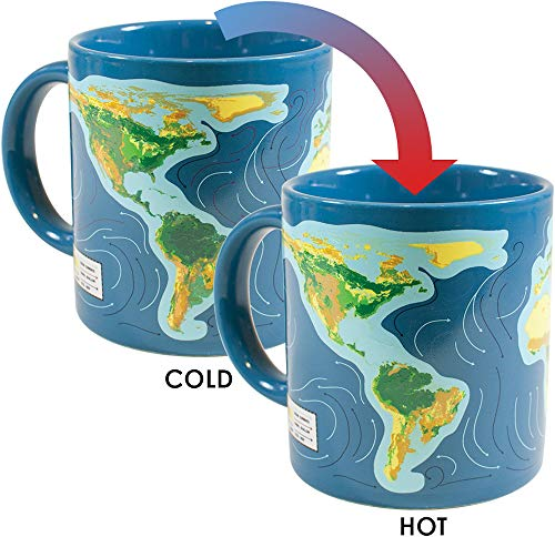 - Climate Change Disappearing Coffee Mug - Add Hot Liquid and Watch What Will Happen When The Ice Caps Melt - Comes in a Fun Gift Box - by The Unemployed Philosophers Guild