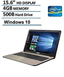 Asus X540SA 15.6-Inch Laptop (Intel Dual Core N3050 2.16GHz, 4GB RAM, 500GB DD, HD LED Backlit Display, DVD/CD Burner, HDMI, VGA, Wifi, Webcam, Windows 10),  Chocolate Black