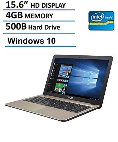 Asus X540SA 15.6-Inch Laptop (Intel Dual Core N3050 2.16GHz, 4GB RAM, 500GB DD, HD LED Backlit Display, DVD/CD Burner, HDMI, VGA, Wifi, Webcam, Windows 10),  Chocolate Black (Pentium Webcam Dual Core)