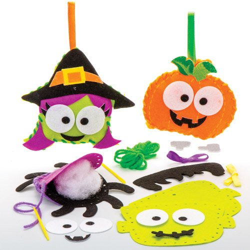 Halloween Sewing Kits For Kids Perfect For Halloween Children's Arts, Crafts And Decorating For Boys And Girls (Pack of 4) -