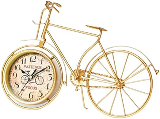 Reloj de Mesa de Metal de Bicicleta Reloj de Mesa Vintage con ...