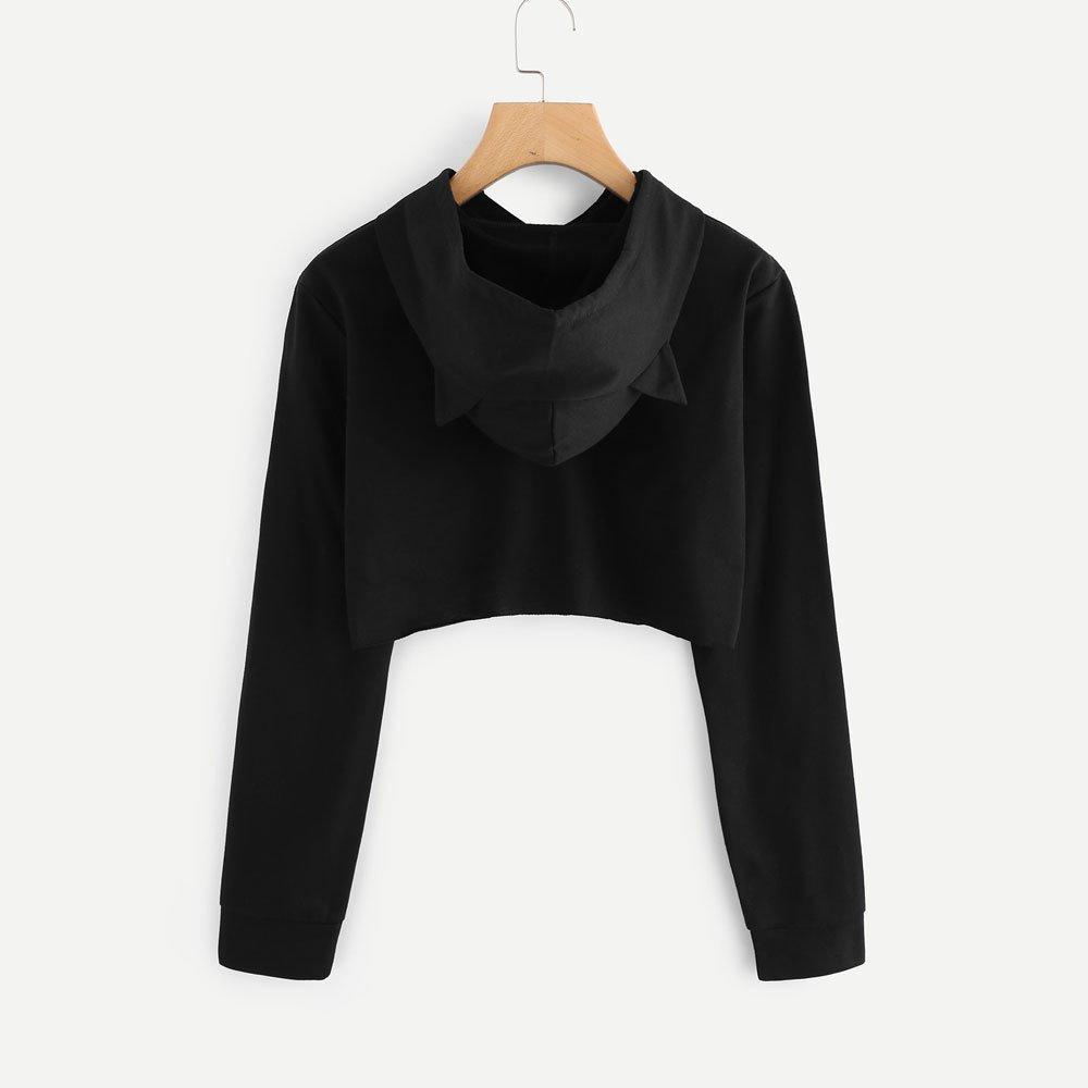 Logobeing Sudaderas corto Primavera Mujer Casual Sólido Terciopelo Sudaderas con capucha Manga larga Camisas Suéter Blouse T-shirt Camiseta Blusa en oferta: ...