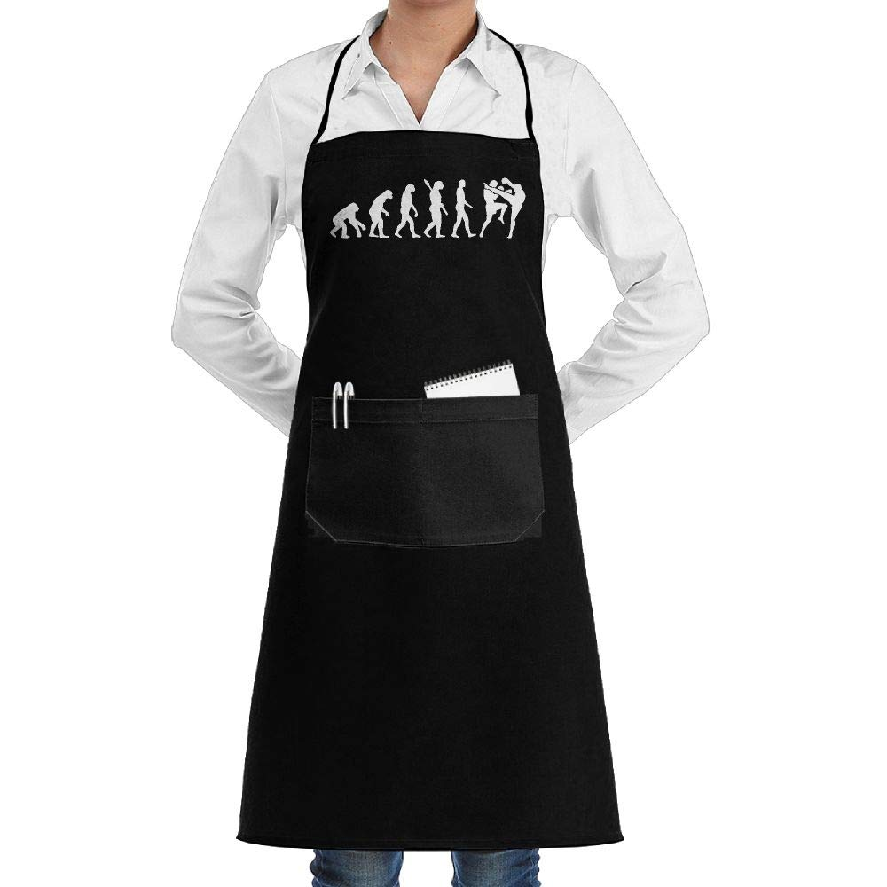 ShoppingNowDear Women/Men Long Aprons Muay Thai Fighter Evolution Bakery Sleeveless Anti-Fouling Overalls Portable Pocket Design by ShoppingNowDear