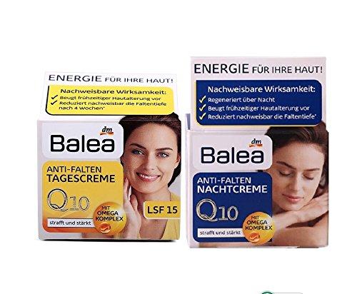 Balea Q10 Anti-wrinkle Day Cream+Night Cream VitaminE Cream Reduce wrinkles fine lines SkinCare regeneration cream Vegan
