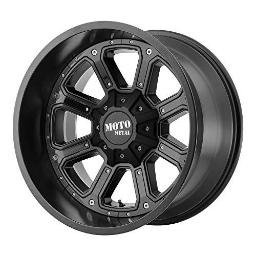 MOTO METAL SHIFT MATTE BLACK W/G-BLK INSERTS SHIFT 18x9 8x16