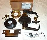Falcon B581PD DAN 613 Storeroom Lock, Grade 2, Commercial Deadlock, w/ Keys, Solid Brass, G Keyway, Dane lever style in Oil Rubbed Bronze